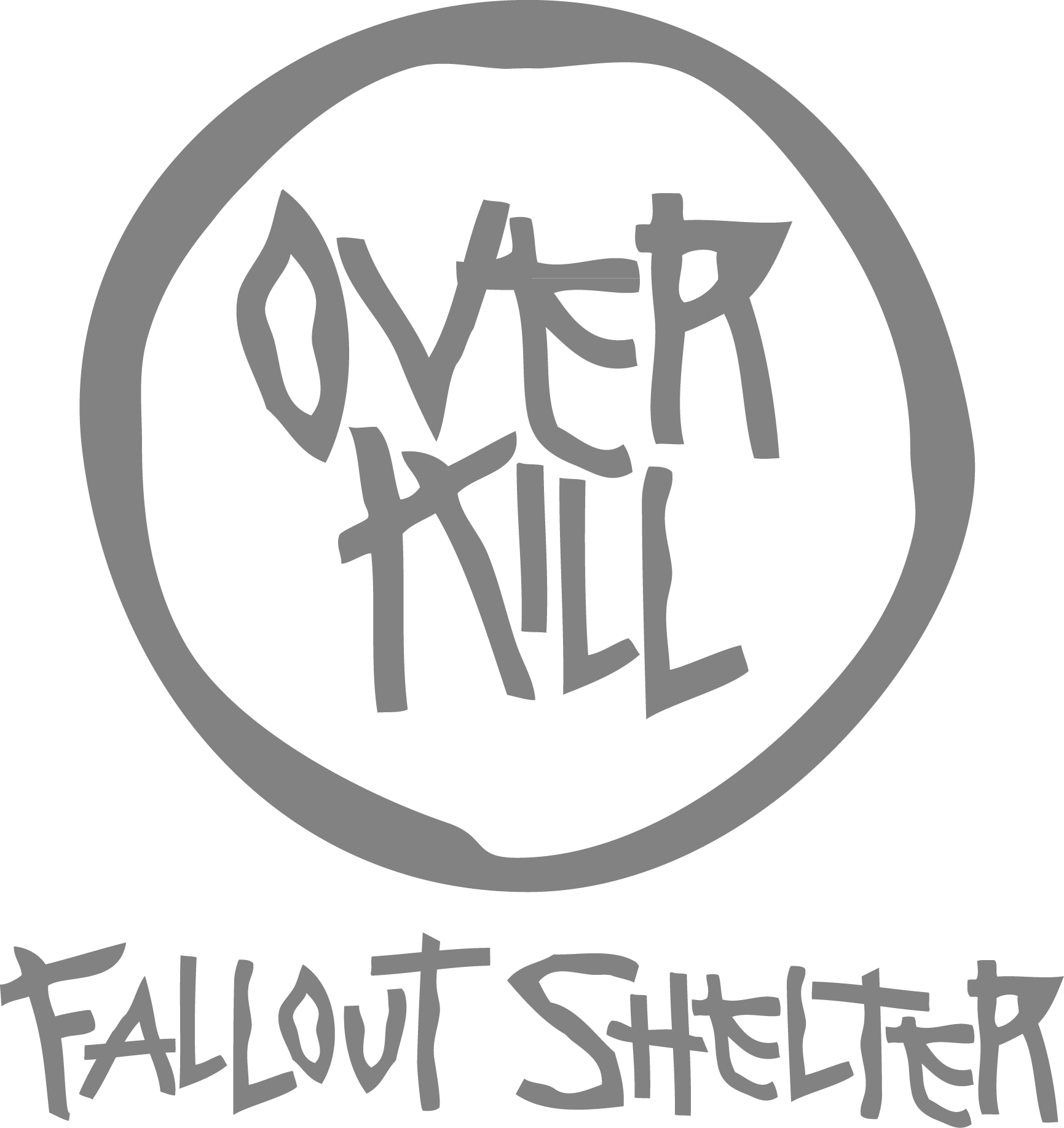 Overkill Fallout Shelter. Bar. Ottawa Ontario Canada. Swag. Merch. Promotional merchandise. All Things Made. Tshirst. Screen printing. Branding. Promo. Swag. glassware. keychains.