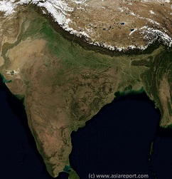 India, Pakistan, Nepal, Bhutan, Bangladesh, Tibet AR Satellite Image Overview 1A