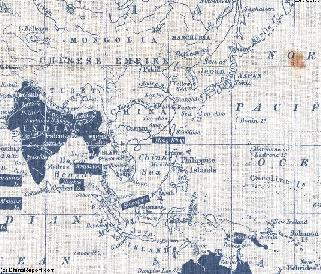 Map China and Expanding British Empire in 1860 AD