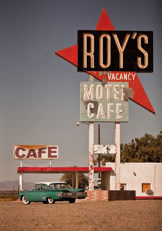 this fantastic mid century neon road sign as put up in 1965 by peteys owners peter and mary kattos primarily because they needed to make sure that - Midcentury Cafe 2015