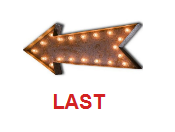 A typical mid century direction arrow with lights