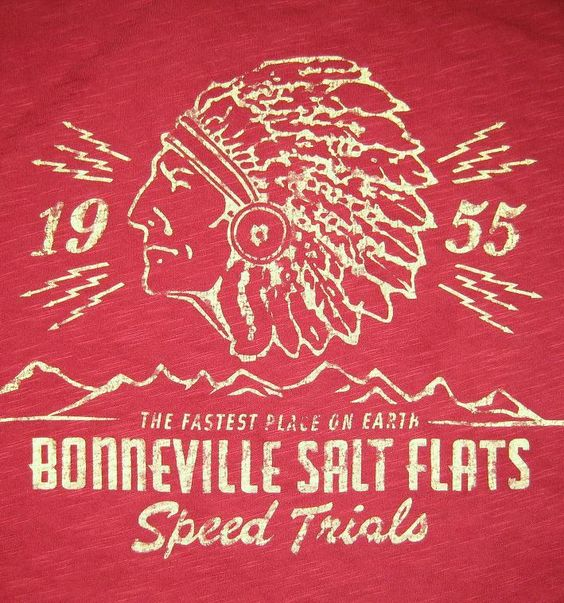 This is a vintage beer mat from 1955made for the Bonneville Salt Flats speed trials