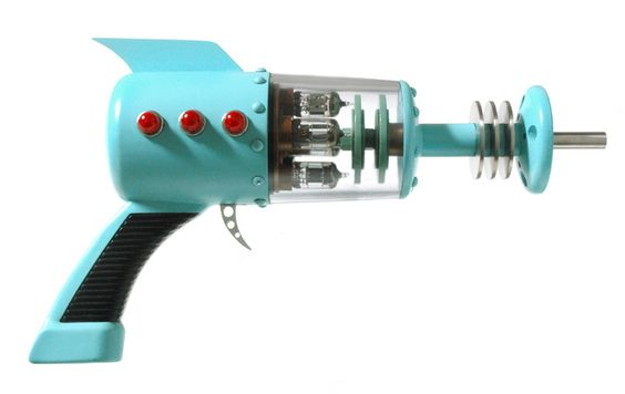 This is a classic vintage 50's Space Age ray gun