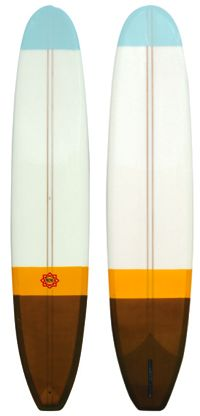 a pair of classic vintage midcentuary surfboards