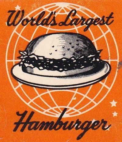 A vintage graphic from the fifties for a burger