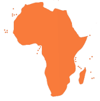Map of Africa to list where our distributors sell our lubricators in each  African country