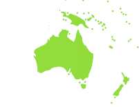 Map of Australiasia locating ATS electro lube distributors of single point and multi point lubricators