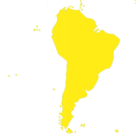 Map of South America to list where our distributors sell our lubricators in each  South american country