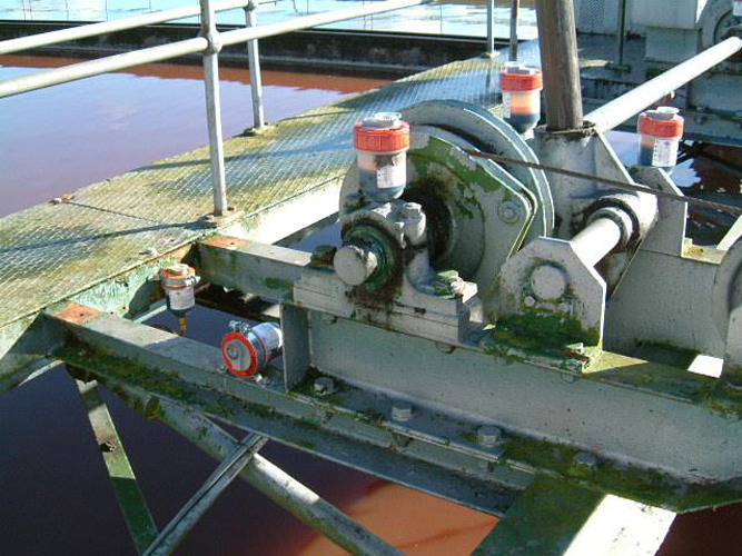 Multiple single point electro-lubers greasing machinery in a water treatment facility
