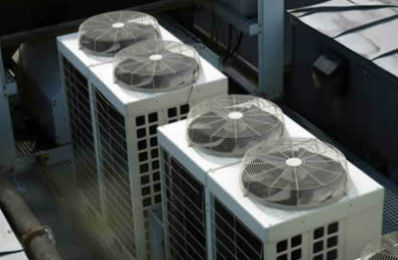 Air conditioning unit in large commerical building