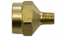 Brass adapter for ATS electro-lube automatic lubricator to fit smaller bearing size