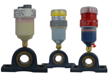 Get a quote for single point lubricators, pictured here delivering bearing lubrication in industrial applications