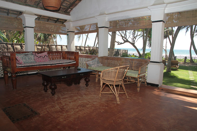 the veranda is the place to relax at the Hikkaduwa Beach House