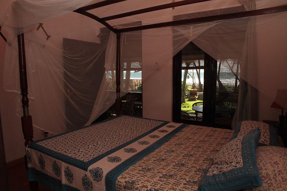 The Main bedroom in the Sri Lanka Beach House