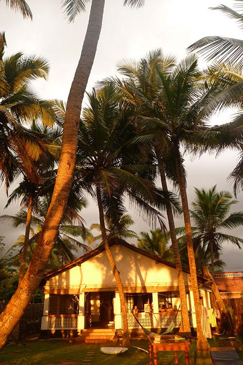 Golden glow on the Sri Lanka Beach House
