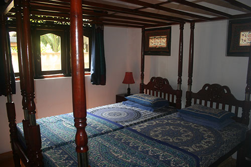 bedroom three in the sri Lanka Beach House