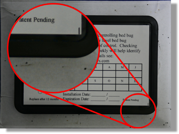 Bed bug Passive Monitor with faecal traces