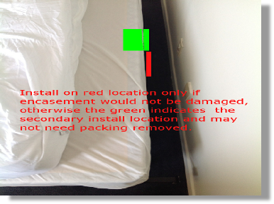 Installation advice for encased beds to use the Passive Monitor for early bed bug detection.