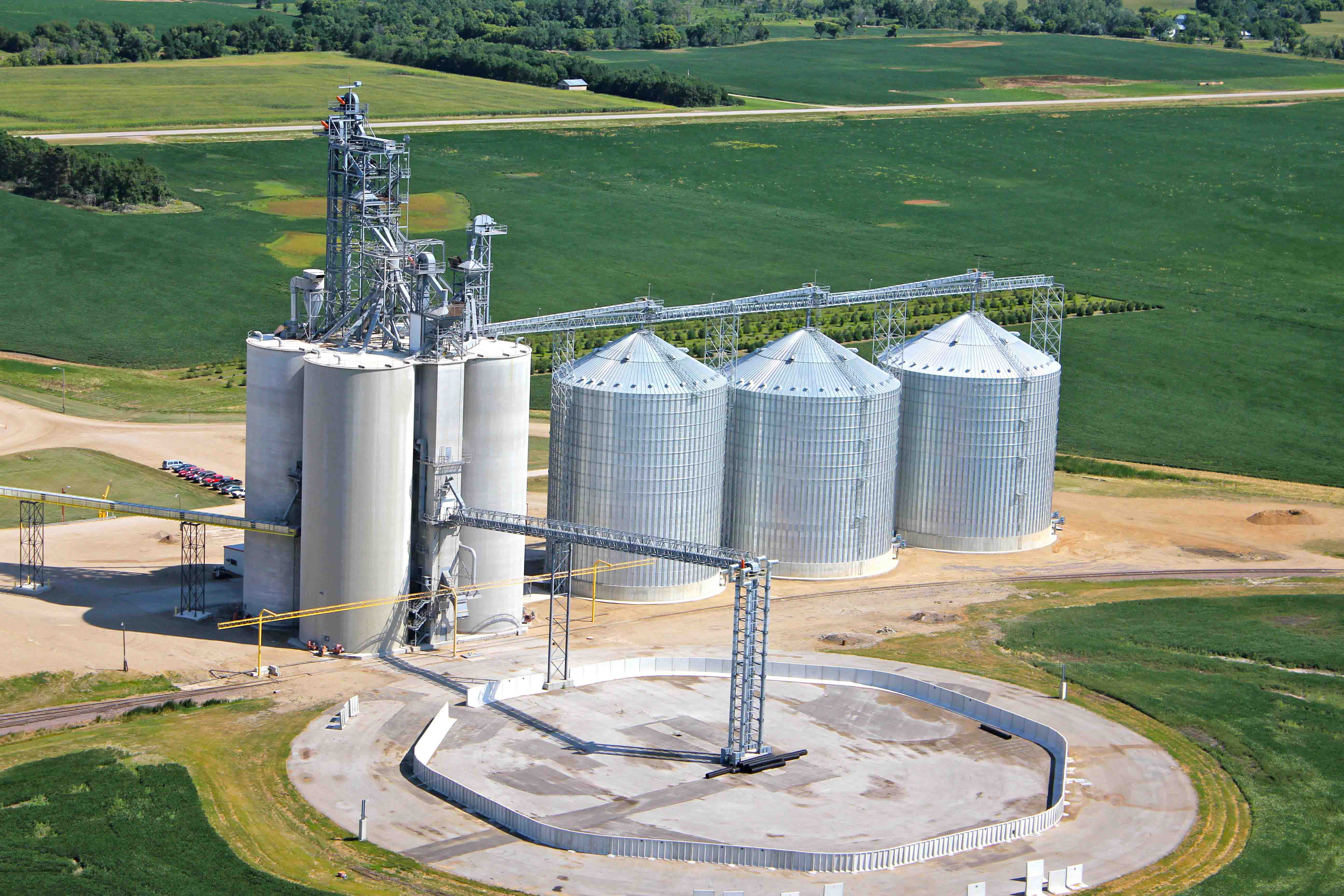 Grain Elevators Aerial Photos