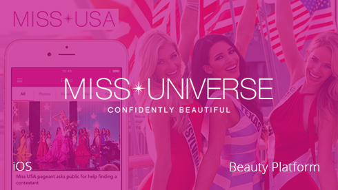 iOS mobile app for MIss Universe