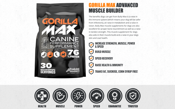 Gorilla Max Europe muscle builder