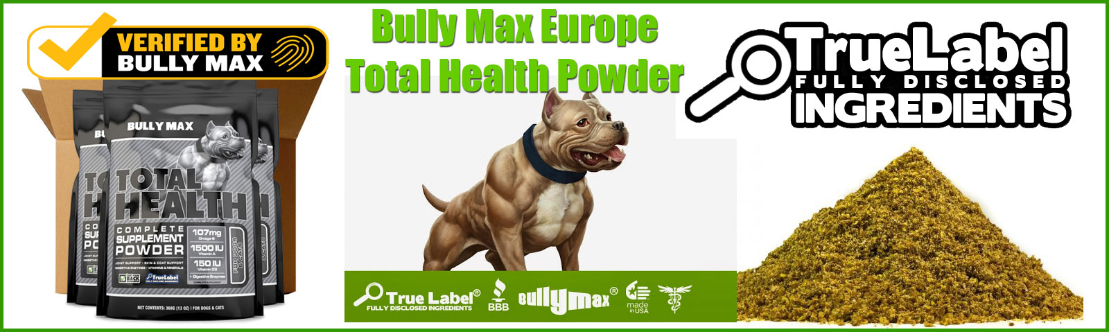 Bully Max Total Health Powder Europe