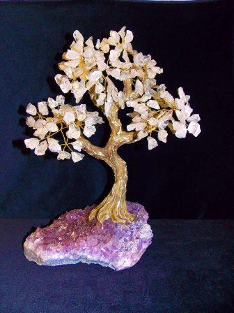 Bonsai tree - with amethyst base Cochrane Cactus Trading Co