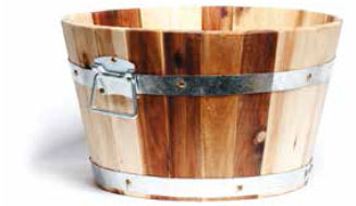 acacia wood planter form cadix uk