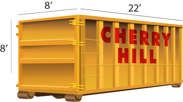 40 Yard dumpster rental - Cherry Hill Construction Inc.