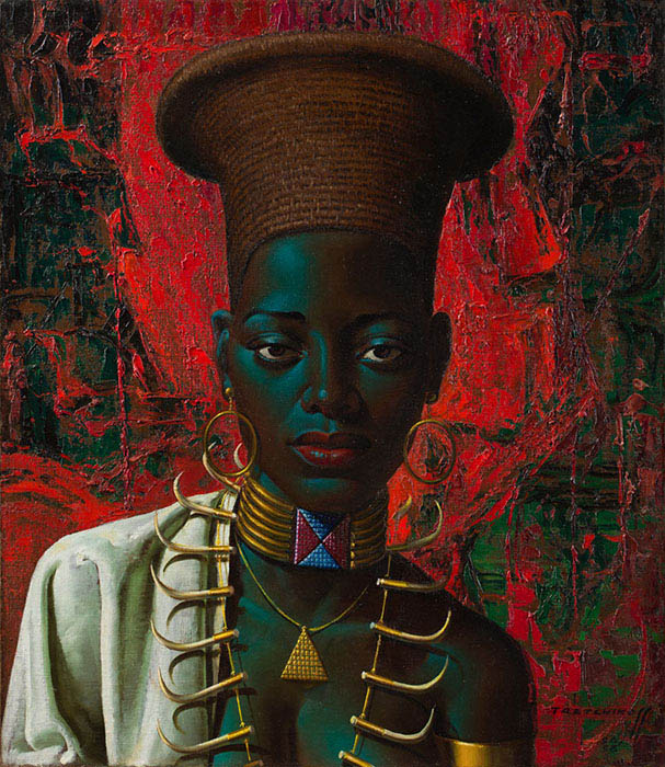 Vladimir Tretchikoff: Zulu Maiden. Captured by Clive Hassall Photography. Producers of fine art capture and advanced, colour management in South Africa.