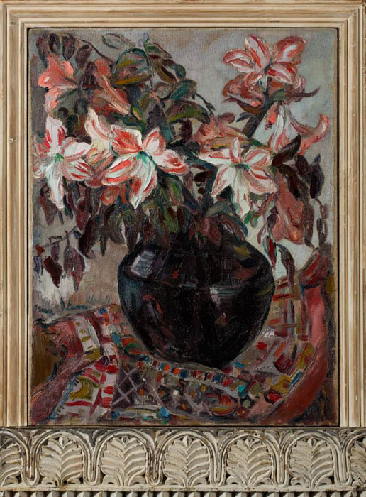Irma Stern: Lillies in an African Pot. Captured by Clive Hassall Photography. Producers of fine art capture and advanced, colour management in South Africa.