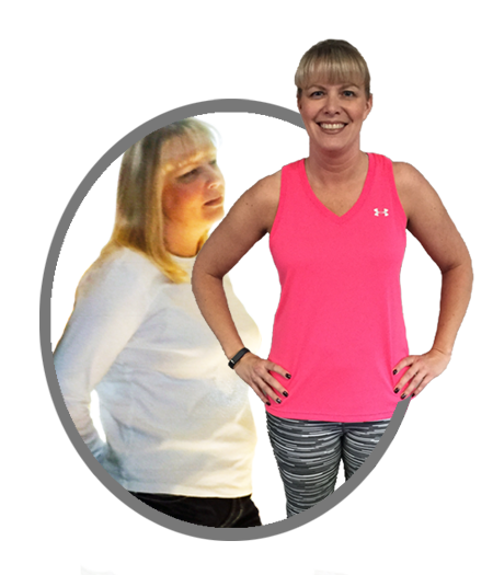 Before and After phots of Melissa, One-on-one training client at JET Fitness Center