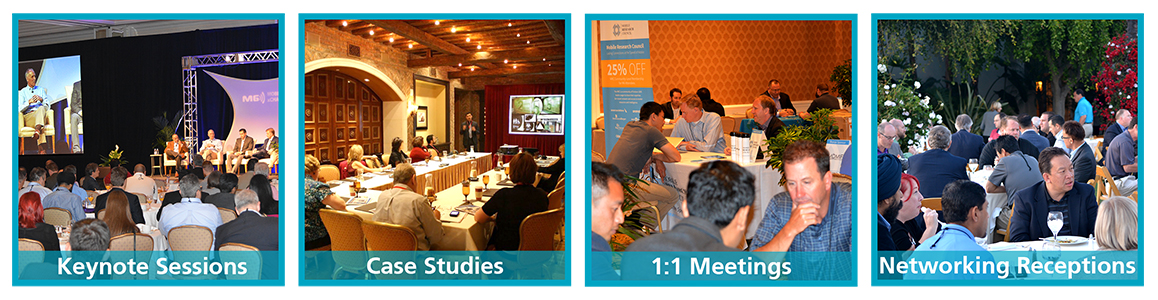 Keynote Sessions, Case Studies, 1:1 Meetings, Networking Receptions