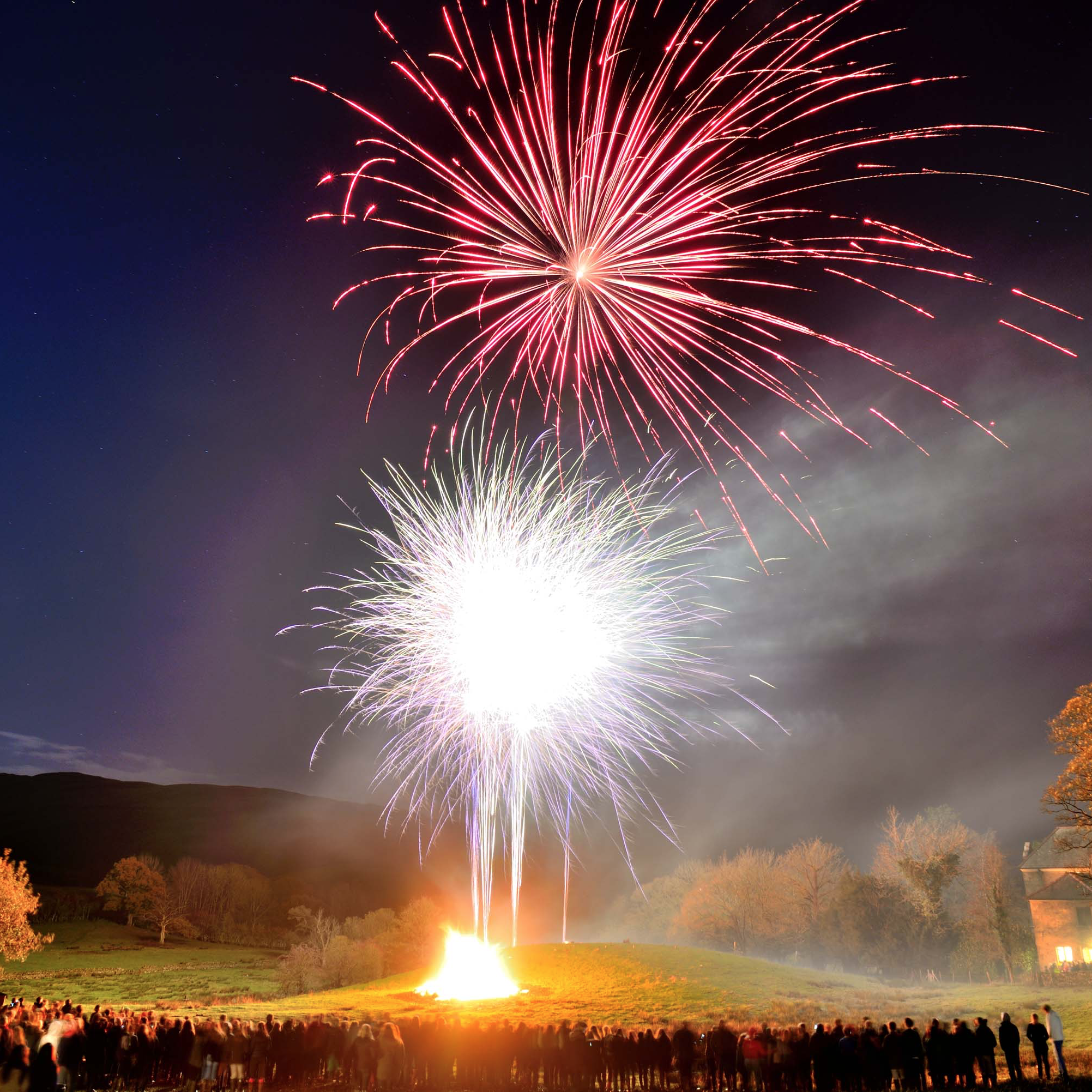 silent firework displays by illuminated fireworks