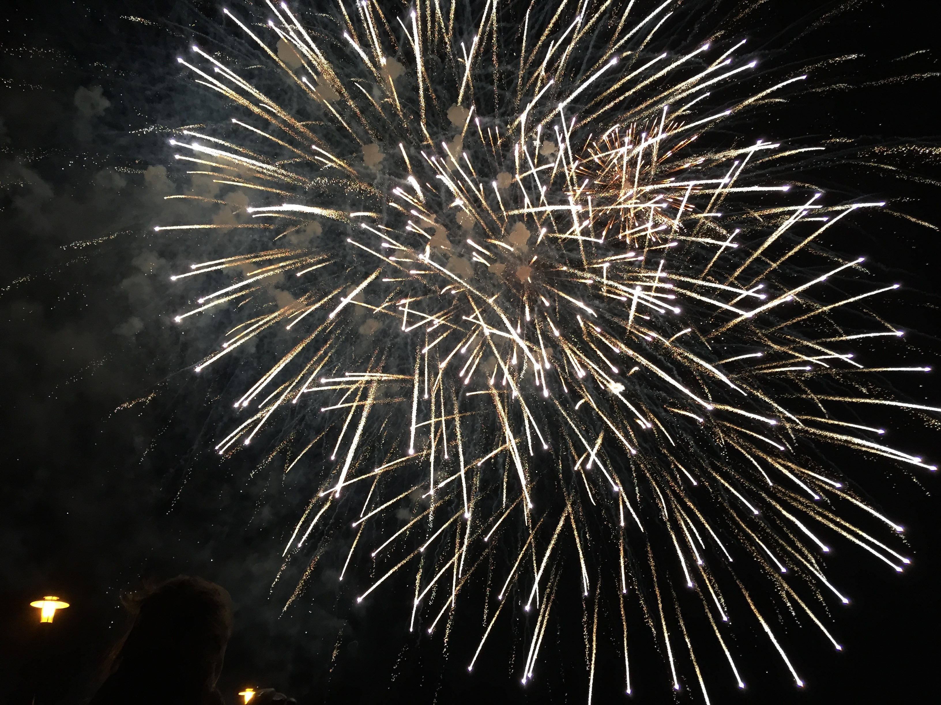 illuminated firework displays