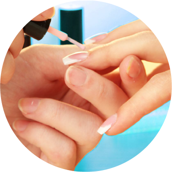Nail services include Shellac manicures and pedicures, nail paints, custom nails art,  and Shellac removal