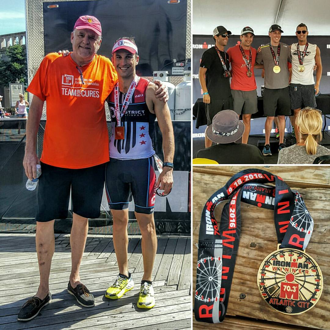 Thomas finish an Ironman 70.3 with an age group podium spot