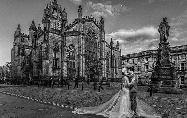 Edinburgh pre wedding photos