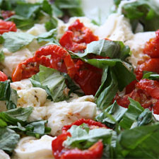image of mozzarella and tomato salad