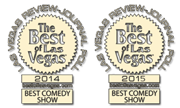 Awards for Best Of Las Vegas for Comedy 2014 & 2015
