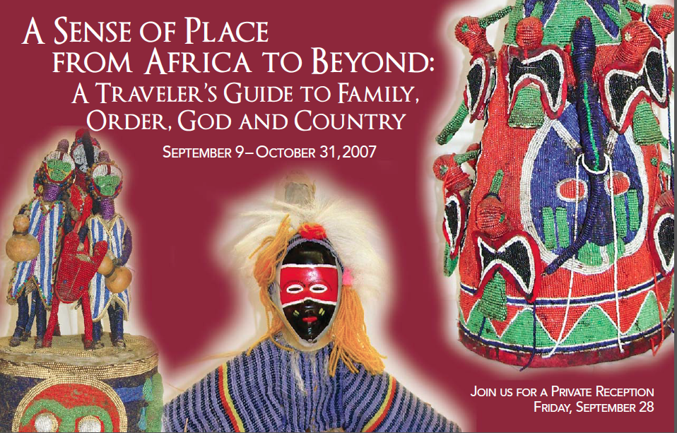 West African Headdress,Lake Erie College art exhibit-ATravelers guide to Family  Order