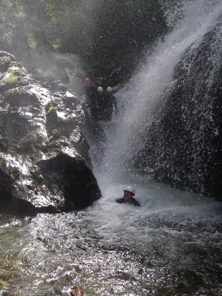Canyoning Natur-Dusche