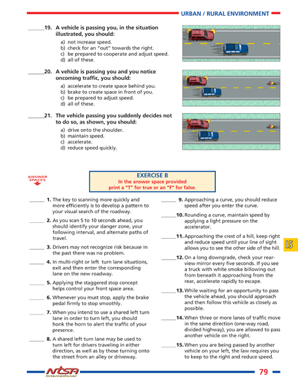 chapter 5 drivers ed answers