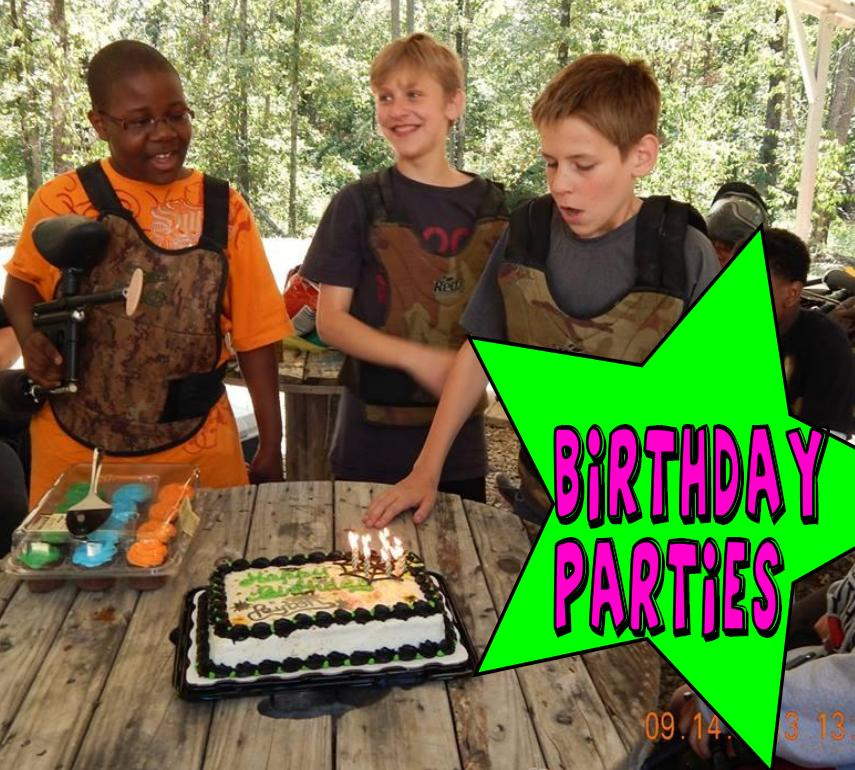 paintball arkansas birthday parties