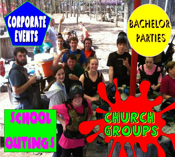 paintball corporate events bachelor parties church groups