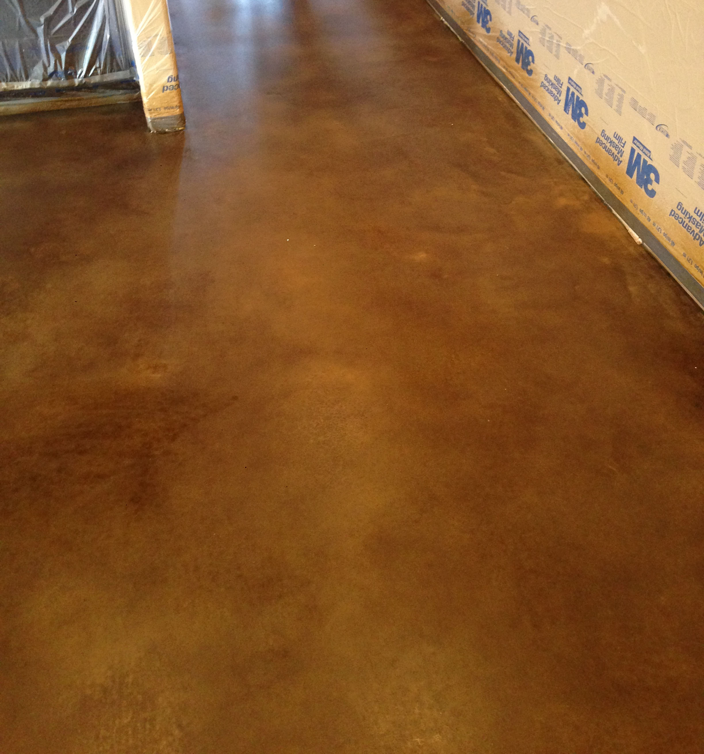 This Is A Concrete Floor Which Was Good Candidate For Dye And Polishing But The Client Did Not Want Shiny As An Alternative To Overlay