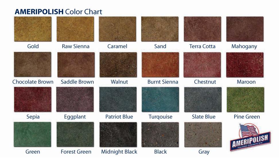 Polish Crete Pro Color Chart