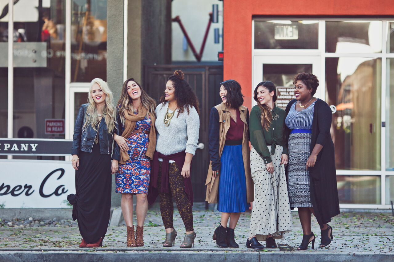 LuLaRoe Ladies Fashion Shoot in the City Julia Dresses with Brandy
