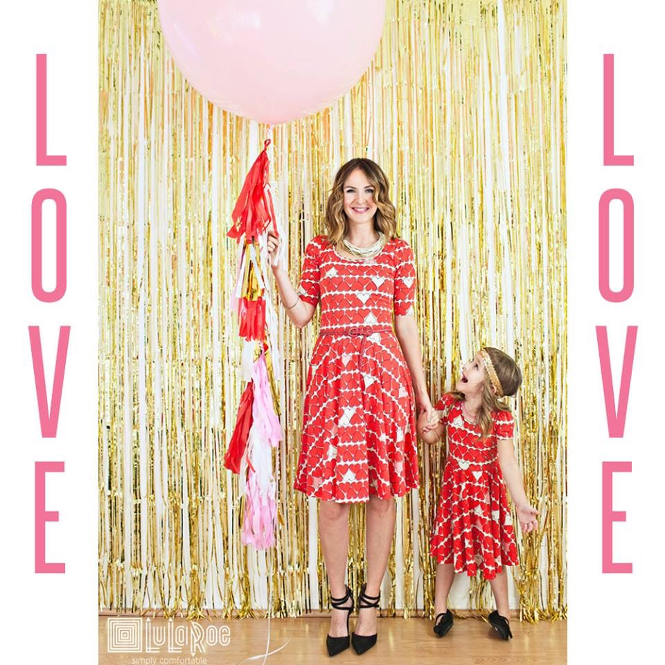 LuLaRoe Valenties Dresses