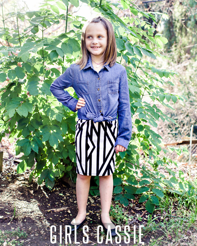 LuLaRoe Girls Cassie Skirt in a garden